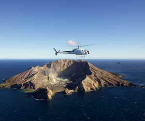 White Island Active Volcano Helicopter